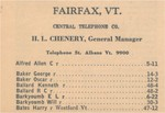 Alfred, Allen C to Bates, Harry of the 1938 Fairfax Phone Directory