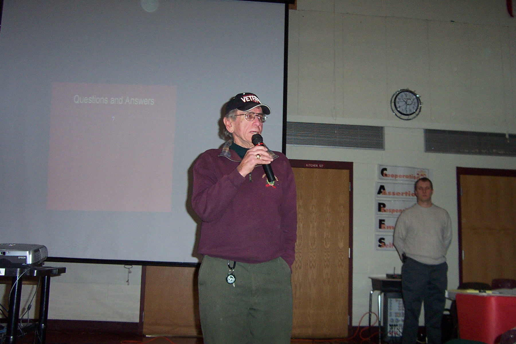 Sam Hudson comments on Sheriff's Patrol schedule - twnmeeting 2008 007