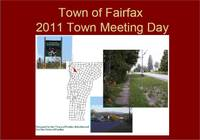 Highlight for album: Fairfax, Vermont Selectboard Town Meeting Day Presentation - 2011