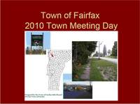 Highlight for album: Fairfax Selectboard Presentation 2010 Town Meeting