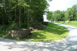 As you can see large stones are not a rarity on John & Fern Rainville's property - 3007-08-13 001